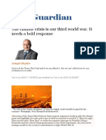 Joseph Stiglitz-The climate crisis is our third world war. It needs a bold response_The Guardian_Tue 4 Jun 2019.docx