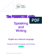 The Productive Skills Speaking and Writi