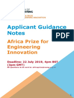 Africa Prize Guidance Notes
