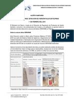 DRPIS Alerta Vacuna Verorab Falsa en Filipinas 010219 Con Firma Escaneada
