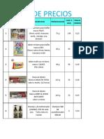 Lista de Precios Mayor_. Pb - Nuevos Productos