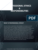 Professional Ethics and Responsibilities
