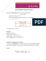 Divisic3b3n de Polinomios Ejercicios Reueltos Ystp1