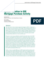 Case, Gillen, And Wachter 2002. Spatial Variation in GSE Mortgage Purchase Activity