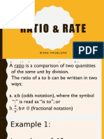 Ratio & Rate