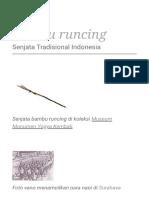 Bambu Runcing - Wikipedia Bahasa Indonesia, Ensiklopedia Bebas