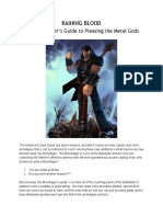 Raining Blood - The Bloodrager's Guide to Pleasing the Metal Gods (Pathfinder)