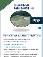 Vehicular Characteristics