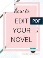 How to edit your novel