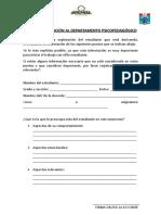 Ficha de Derivación Al Departamento Psicopedagógico