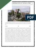 La Reicorporacion de Tacna Al Perú
