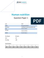 7 Human Nutrition Topic Booklet 1 CIE IGCSE Biology