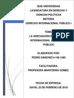 Adecuación Del Derecho Internacional Al Derecho Público