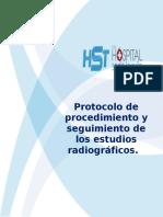 Protocolo de Procedimiento y Seguimiento de Los Estudios Radiográficos.