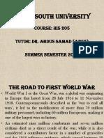 Road to First World War