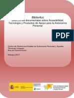 Selección documentales sobre accesibilidad, tecnologi y productos de apoyo para la autonomia personal