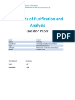 12-Method of Purification and Analysis Qp o Level - Cie - Chemistry