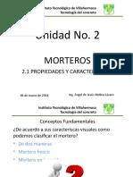 Propiedades y Caracteristica de Los Morteros