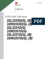 Toshiba 32W2333D(G) Service Manual