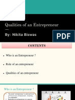 Qualities of an Entrepreneur