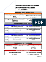 Horario IV Trimestre 19, E-Learning