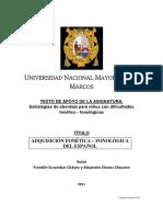 11 Adquisición Fonético Fonológica Del Español. Susanibar & Dioses