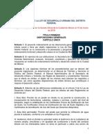 Reglamentos Ley Dedesarrollo Urbano Df