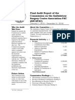 Final Audit Report of the Commission on the Ambulatory Surgery Center Association PAC (ASCAPAC) (January 1, 2015 – December 31, 2016)