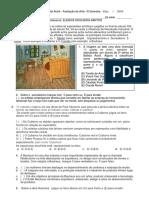 Avaliaçao Arte 3 Bimestre 2a Série