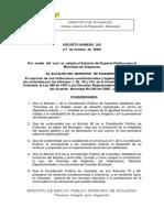 Decreto 242 Del 11 de Octubre de 2006 Estatuto de Espacio Publico