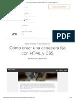 Cómo Crear Una Cabecera Fija Con HTML y CSS
