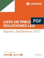 Lista de Precios Soluciones LED Septiembre 2017