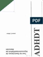 ADHDT Manual
