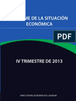 INFORME DE LA SITUACIÓN ECONÓMICA. IV TRIMESTRE 2013. BCR