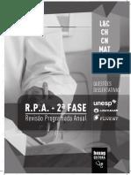 Livro RPA SegundaFase Unesp Unicamp Fuvest