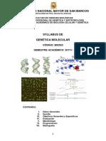 Syllabus de Genética Molecular_2017-I