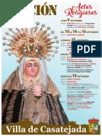 Cartel Actos Religiosos Función 2019