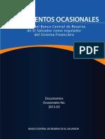 El Rol del Banco Central de Reserva de El Salvador como regulador  del Sistema Financiero