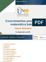 Pre-tarea - Resolver Cuestionario Sobre Conocimientos Previos en Matemática Básica