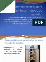 Recomendaciones para diseñar un buen método de estudio.ppt