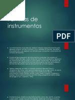 Familias de instrumentos (breve clasificación)