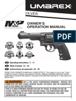 Smith and Wesson M and P R8 CO2 BB Revolver Pistol User Manual