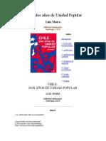 Chile Dos Años de Unidad Popular Luis Maira 1973