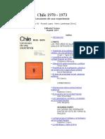 Chile 1970 - 1973 Lecciones de Una Experiencia