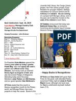 Moraga Rotary Newsletter Septenber 3, 2019