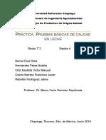 Practica 1 Lacteos Pruebas Basicas de La Leche