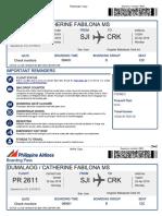 Philippine Airlines 22apr2019 p3dme3 Dumalaogcatherine Fabilona