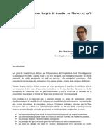 accord préalables aux prix de transfert au Maroc