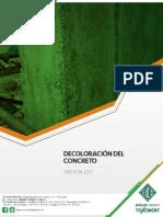 decoloracion del concreto