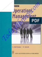 eBook for Operations Management by Anil & Suresh
